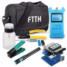 Fiber Optic FTTH Tool Kit FC-6S Fiber Cleaver Power Meter Visual Finder Locator