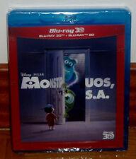 MONSTRUOS S.A.-MONSTERS,INC-COMBO BLU-RAY 3D+BLU-RAY 2D-DISNEY-PIXAR-PRECINTADO