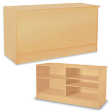 70 Inch Maple Service Counter with Adjustable Shelves 70 W x 20 D x 38 H Inches
