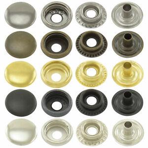 Boutons pression ressort annulaire lot de pressions en acier ou laiton inoxydabe