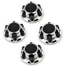 4x Chrome & Black GMC Sierra 1500 Yukon Denali, 6 Lugs Hub Center Cap 7-1/4 inch