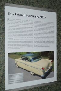 ★★1954 PACKARD PANAMA HARDTOP INFO SPEC SHEET PHOTO FEATURE PRINT 54★★