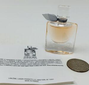 LANCOME La Vie Est Belle L'Eau de Parfum EDP Splash MINI SIZE 4ml/0.135oz NWOB