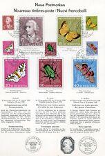 FAUNA_4506 1957 Switzerland butterflies FDC FOLDER A4 SHEET Combined payments