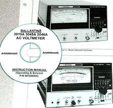 Ballantine 3015A 3045A 3046A AC Voltmeter, Operating & Service Manual