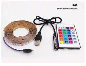 Remote Control 5V USB RGB Smart LED Strip Light  Home and garden Flexible