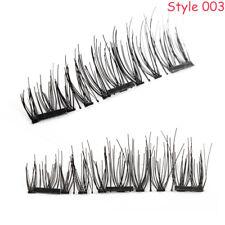 1Pair Handmade SKONHED Lashes Triple Magnetic False Eyelashes Resuable Lashes