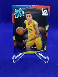 Kyle Kuzma Lakers 2017-18 Donruss Optic Rated Rookie Red & Yellow RC Card #174