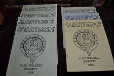 7 Issues Clan McLaren Society Quarterlies 1960s-1970s Scottish Genealogy