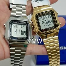 Casio Couples Pair Unisex Watch VINTAGE RETRO DIGITAL QUARTZ A-178WGA A-178WA