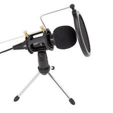 Mikrofon + Pop-Filter mit  Ständer  Musikinstrumente DJ-Equipment für PC