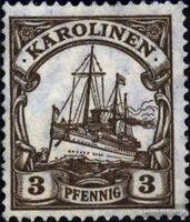 Karolinen (Dt.Kolonie) 21 postfrisch 1919 Schiff Kaiseryacht Hohenzollern