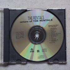 Rentals – Return Of The Rentals - Advanced Promo CD Maverick  Reprise → Weezer