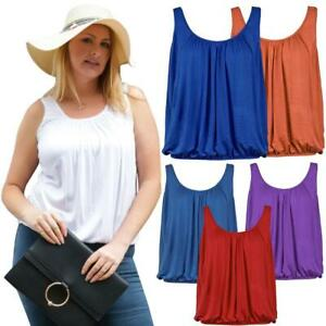 Womens Vest Tops Ladies Summer Holiday Loose Fit Camisole Sleeveless Tank Top