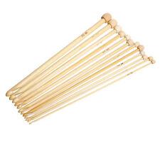 1 Set Tunesische Häkelnadeln, Bambus, 3 -10mm, 12 Stück