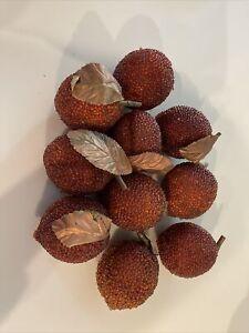 10 Pieces Vintage Faux Fruit Peaches Bowl Filler Decor