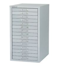 Bisley 15 Drawer Grey Non-Locking Multi-Drawer Cabinet BY31067 [BY31067]