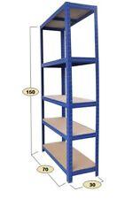 ProLiving Schwerlastregal blau- Steckregal Lagerregal Regal Werkstattregal 625kg