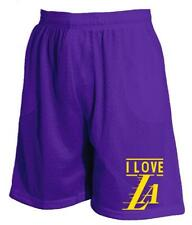 New Men's Mesh Short Jersey Love Los Angeles Kobe Basketball Pants S~5XL