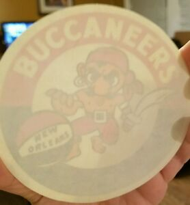 "Vintage 1968 New Orleans Buccaneers ABA Window  4"" Basketball Sticker Original"