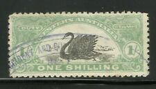 More details for western australia long swan stamp used 1/ light green black early old collection