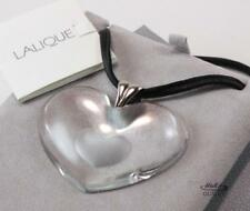Lalique heart love costume necklaces pendants ebay lalique xxl large coeur tender heart love clear crystal 925 ss necklace pendant mozeypictures Image collections