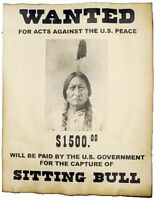 SITTING BULL LAKOTA NATIVE AMERICAN INDIAN WANTED POSTER 8X10 PHOTO WILD WEST