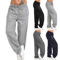 Womens Casual Loose Baggy Sweatpants Sports Harem Trousers Yoga Jogger Pant B