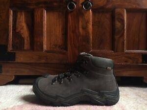 Keen Mens Mid Gray Suede Waterproof Outdoor Hiking Boots Shoes UK9 EU43