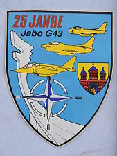 25 JAHRE JABO G.43  - ALLEMAGNE RFA  sticker ... à voir ...