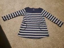 Carters Toddler Gray And Navy Striped Shirt 2T