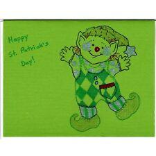 Dancing Leprechaun - A - Handmade Good Greeting Supply Card CLEARANCE