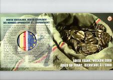 BELGIE BU SET 2002 ADIEU FRANK - WELKOM EURO