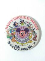 Vintage Original 1978 Happy Birthday Mickey Walt Disney World Pin Button