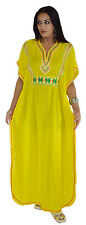 Moroccan Caftan kaftan Handmade Abaya Swim Cover lounge wear maxi Dress Yellow