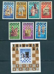Vietnam 1290-1297 Chess set/7 and SS, Mint OG NH
