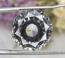 White Sapphire Round cut 12mm. Loose gemstones Lab created Sapphire corundum.