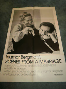 SCENES FROM A MARRIAGE(1973)LIV ULLMANN ORIGINAL ONE SHEET POSTER+