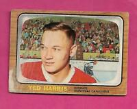 1966-67 TOPPS # 69 CANADIENS TED HARRIS  CREASED  CARD (INV# C3107)