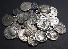 Individual Identified Roman silver denarius coin from between 100 BC - 200 AD