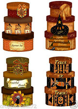 SET OF 8 HALLOWEEN HAT BOXES (40) SCRAPBOOK CARD EMBELLISHMENTS HANG/GIFT TAGS
