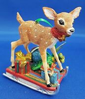 """Danbury Mint """"FAWN"""" Deer Baby Animal Christmas Tree Collectible Ornament NEW"""