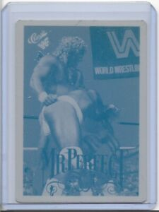1/1 MR. PERFECT 1990 CLASSIC CARDS WRESTLER PRINTING PLATE WWE WRESTLING 1 OF 1