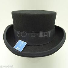 Wool Felt Topper Top Hat Men Short Tuxedo | 57cm | Black | VINTAGE x QUALITY
