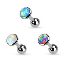 3pc Opal Stud Tragus CARTILAGE Helix Conch Bar EAR Ring Barbell Piercing Jewelry