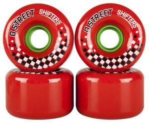D-STREET - Shifters -Skateboard Wheels -  65mm - 78a Long board / Cruiser Wheels