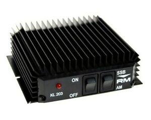 CB HAM AMPLIFIER BURNER RM KL 203 AM FM 100W SSB CW 200W HF AMPLIFIER