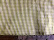 LIME GREEN & WHITE SILK GINGHAM #154179 BY MARTHA PULLEN- 45 INCH WIDE--BTY