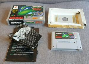 Super Nintendo SNES Game Teenage Mutant Hero Turtles Tournament Fighters Boxed