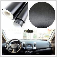 Car SUV Interior Exterior Trim 3D black Leather Texture Sheet Film Vinyl Sticker